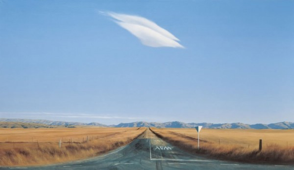 Echoes from Emptiness: Grahame Sydney - Road West, Ida Valley