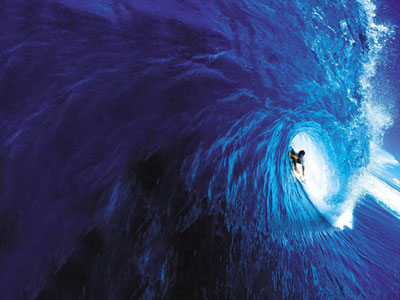Echoes from Emptiness: tunnel surfer