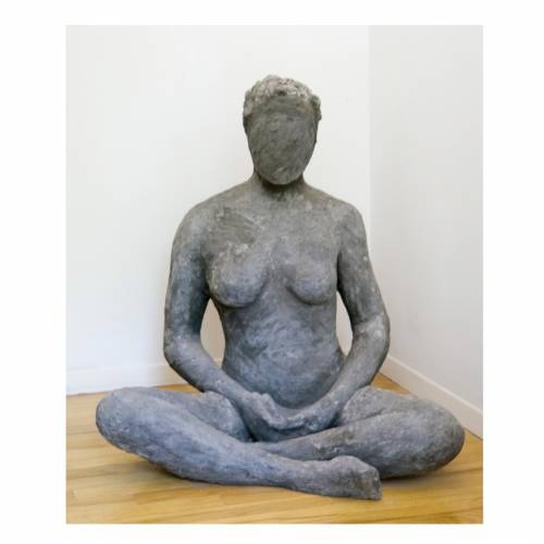 Meditating Woman - sculpture by Dorothy Frankel