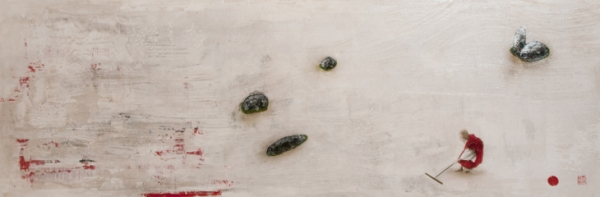 Echoes from Emptiness: Ingo Leth: the spirit of zen, 2011, acrylic paint on linen