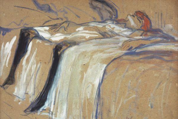 Henri de Toulouse-Lautrec (1864-1901), Seule 1896.  Oil on cardboard. H. 31; W. 40 cm  © RMN-Grand Palais (Musée d'Orsay)