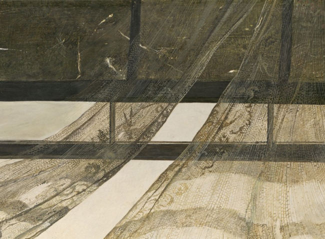 Andrew Wyeth: Wind from the Sea, detail