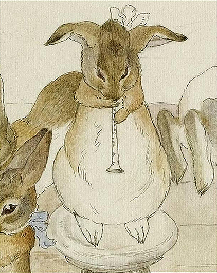 Beatrix Potter - Dancing to a Piper, detail