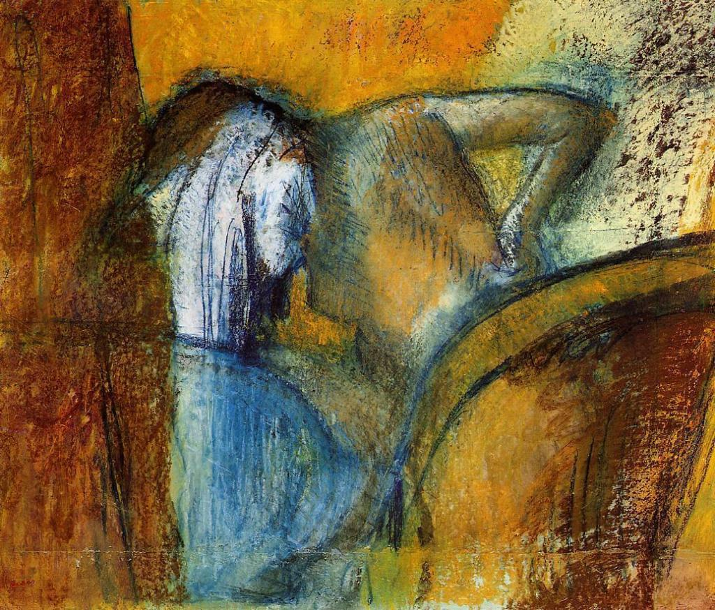 Edgar Degas, Woman, Seen from Behind, Drying Her Hair, c.1905 - 1910