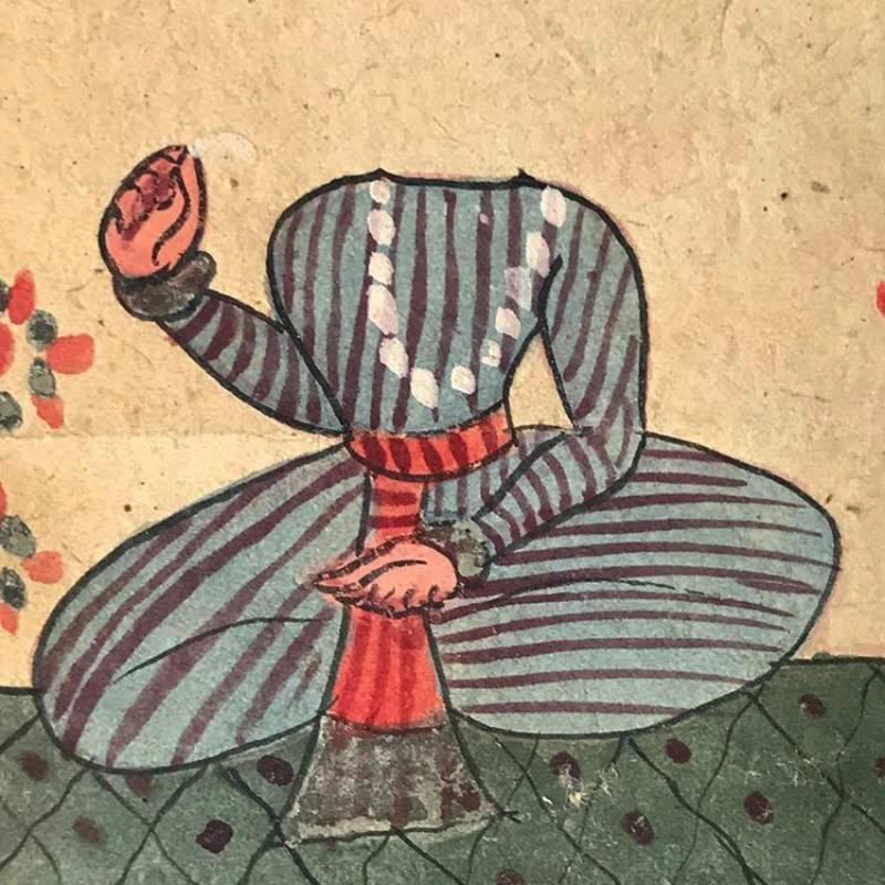 Tantric painting, India, c!800, detail